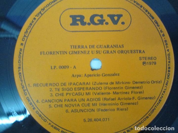 Discos de vinilo: TIERRA DE GUARANIAS. FLORENTIN GIMENEZ SU GRAN ORQUESTA. ARPA DE APARICIO GONZALEZ. LP VINILO 1979 - Foto 4 - 98589195