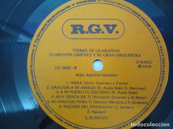 Discos de vinilo: TIERRA DE GUARANIAS. FLORENTIN GIMENEZ SU GRAN ORQUESTA. ARPA DE APARICIO GONZALEZ. LP VINILO 1979 - Foto 6 - 98589195