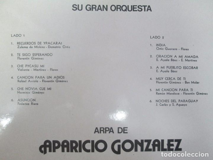 Discos de vinilo: TIERRA DE GUARANIAS. FLORENTIN GIMENEZ SU GRAN ORQUESTA. ARPA DE APARICIO GONZALEZ. LP VINILO 1979 - Foto 7 - 98589195