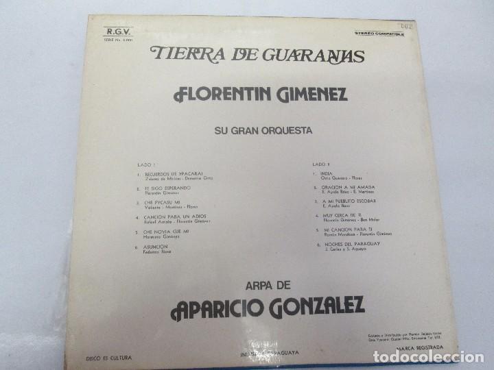 Discos de vinilo: TIERRA DE GUARANIAS. FLORENTIN GIMENEZ SU GRAN ORQUESTA. ARPA DE APARICIO GONZALEZ. LP VINILO 1979 - Foto 8 - 98589195