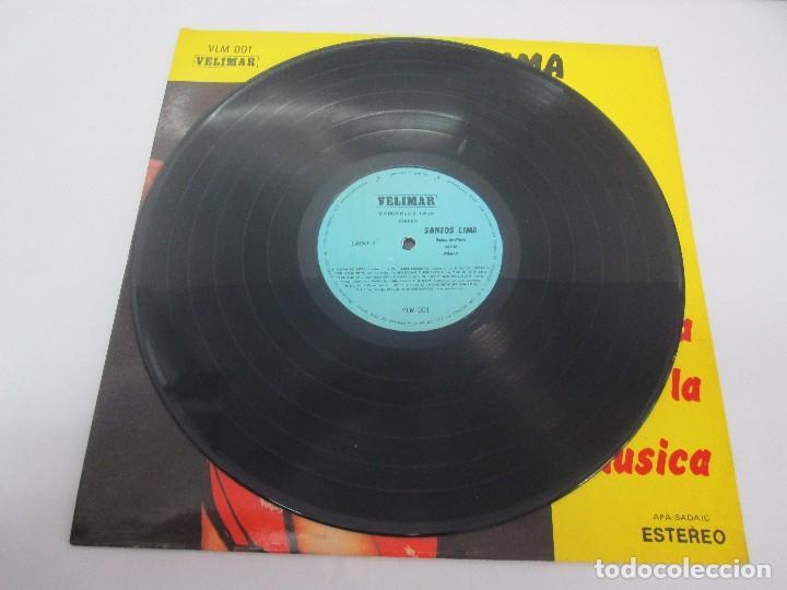 Discos de vinilo: SANTOS LIMA. BODAS DE PLATA CON LA MUSICA. LP VINILO, VELIMAR. VER FOTOGRAFIAS ADJUNTAS - Foto 5 - 98594467