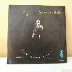 Discos de vinilo: SPANDAU BALLET : HOW MANY LIES? - COMMUNICATION (LIVE). Lote 98585991