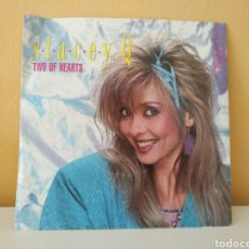 Discos de vinilo: STACEY Q : DANCING NOWHERE - TWO OF HEARTS. Lote 98587371