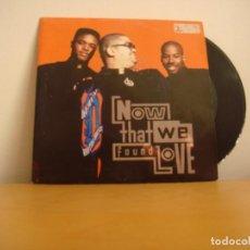 Discos de vinilo: SINGLE VINILO - HEAVY D. AND THE BOYZ - 1991 - NOW THAT WE FOUND LOVE . Lote 107475120