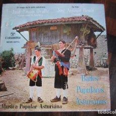Discos de vinilo: MUSICA POPULAR ASTURIANA. BAILES POPULARES ASTURIANOS. JOSE REMIS OVALLE (GAITERO MAYOR DE ASTURIAS). Lote 98613587