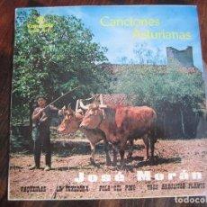 Discos de vinilo: CANCIONES ASTURIANAS. JOSE MORAN. SINGLE CON 4 CANCIONES. COLUMBIA 1964. DEDICADO DE PUÑO Y LETRA PO. Lote 116990802