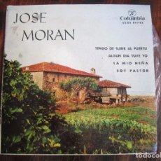 Discos de vinilo: CANCIONES ASTURIANAS. JOSE MORAN. SINGLE CON 4 CANCIONES. COLUMBIA 1964. DEDICADO DE PUÑO Y LETRA PO. Lote 98614419