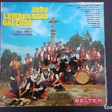 Discos de vinilo: LP CORO LEMBRANZAS GALEGAS GALICIA FOLKLORE. Lote 98618499