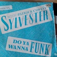 Discos de vinilo: SINGLE ( VINILO)-PROMOCION- DE SYLVESTER WITH PATRICK COWLEY AÑOS 80. Lote 98620455