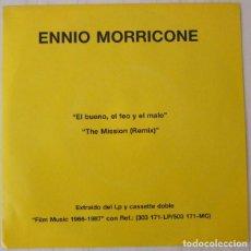Discos de vinilo: ENNIO MORRICONE - EL BUENO , EL FEO Y EL MALO VIRGIN PROMOCIONAL - 1988. Lote 98632023