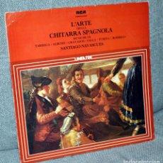 Discos de vinilo: SANTIAGO NAVASCUÉS - LP ALBUM 12'' - EL ARTE DE LA GUITARRA ESPAÑOLA - EDITADO EN ITALIA - RCA 1977. Lote 98636147