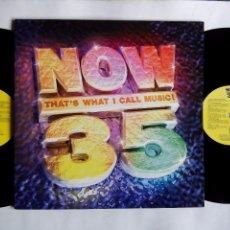 Discos de vinilo: NOW THAT'S WHAT I CALL MUSIC ! 35. LP DOBLE EMI VIRGIN 7243 8 54708 13. UK 1996. SPICE GIRLS. SUEDE.. Lote 98642855