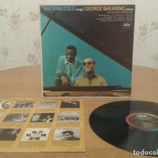 Discos de vinilo: NAT KING COLE SINGS THE GEORGE SHEARING QUINTET PLAYS 1963 - !! RARO, 1ª EDT USA, TODO EX. Lote 98656311