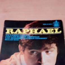 Discos de vinilo: RAPHAEL - UN LARGO CAMINO - CON LAS MANOS ABIERTAS - .. - BUEN ESTADO - VER FOTOS. Lote 98669659