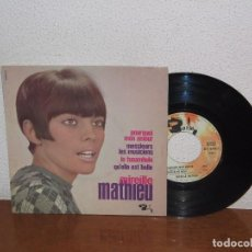 Discos de vinilo: MIREILLE MATHIEU 7´´ MEGA RARE VINTAGE EXTENDED PLAY FRANCE 1966. Lote 98680355