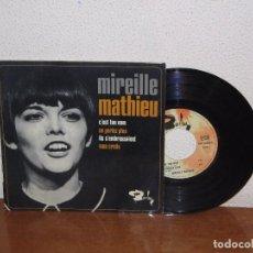 Discos de vinilo: MIREILLE MATHIEU 7´´ MEGA RARE VINTAGE EXTENDED PLAY FRANCE 1966. Lote 98680479