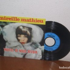 Discos de vinilo: MIREILLE MATHIEU 7´´ MEGA RARE VINTAGE FRANCE 1975. Lote 98681915