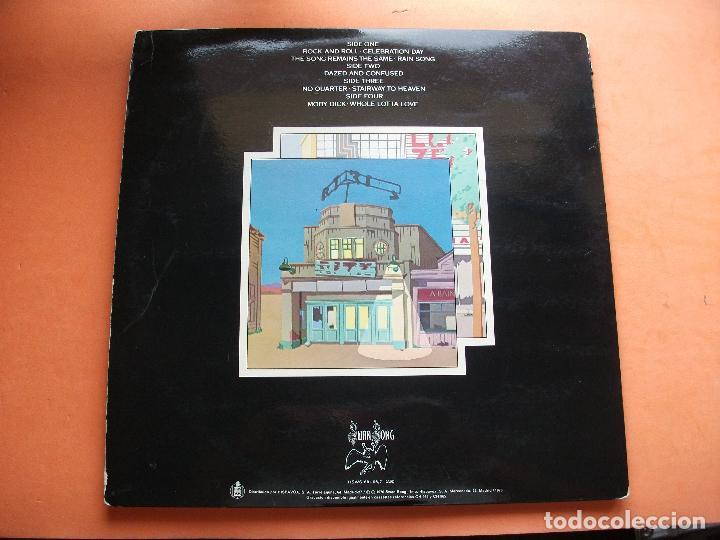 Discos de vinilo: LED ZEPPELIN THE SONG REMAINS THE SAME DOBLE LP SPAIN 1976 pdeluxe - Foto 3 - 98682135
