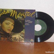 Discos de vinilo: SARA MONTIEL 7´´ MEGA RARE VINTAGE EXTENDED PLAY SPAIN 1958. Lote 98682259