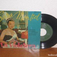 Discos de vinilo: SARA MONTIEL 7´´ MEGA RARE VINTAGE EXTENDED PLAY SPAIN 1958. Lote 98682399