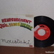 Discos de vinilo: GEORGES MOUSTAKI 7´´ MEGA RARE VINTAGE SPAIN 1980. Lote 98684043