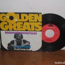 Discos de vinilo: GEORGES MOUSTAKI 7´´ MEGA RARE VINTAGE GERMANY 1969. Lote 98684203