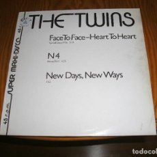 Discos de vinilo: THE TWINS,FACE TO FACE-HEART TO HEART,MAXI SINGLE................A. Lote 98696931