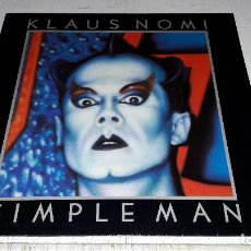 Discos de vinilo: KLAUS NOMI - SIMPLE MAN RED. ESPAÑOLA DE LOS 80 CON ENCARTE BUEN ESTADO. Lote 98700535