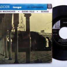 Discos de vinilo: TRADICION. TANGO. JOACHIM DA SILVA Y SU GRAN ORQUESTA. EP KTB 2202011. FRANCE. LA CUMPARSITA.. Lote 98701923
