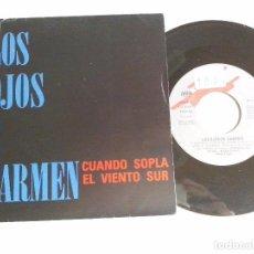 Discos de vinilo: MUSICA SINGLE: LOS OJOS DE CARMEN - CUANDO SOPLA EL VIENTO SUR / 1023 (ABLN). Lote 98703347