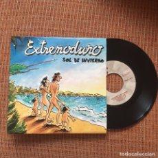 Discos de vinilo: EXTREMODURO SINGLE SOL DE INVIERNO VINILO ROSENDO MAREA BARRICADA. Lote 98708374