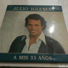 Discos de vinilo: JULIO IGLESIAS- LP A MIS 33 AÑOS- COLUMBIA 1977 PORTADA DOBLE CON LETRA DE CANCIONES 1. Lote 98718448