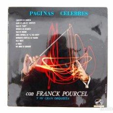 Discos de vinilo: LP. VINILO - PÁGINAS CÉLEBRES CON FRANCK POURCEL Y SU GRAN ORQUESTA - EMI 1961. Lote 98721275