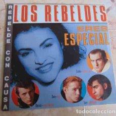 Discos de vinilo: LOS REBELDES – ERES ESPECIAL - SINGLE PROMO 1985. Lote 98723787