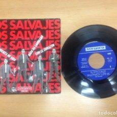 Discos de vinilo: EP LOS SALVAJES /HOY COMIENZA MI VIDA/NADA HA CAMBIADO/BOYS / CON EL CORAZON. Lote 98744339