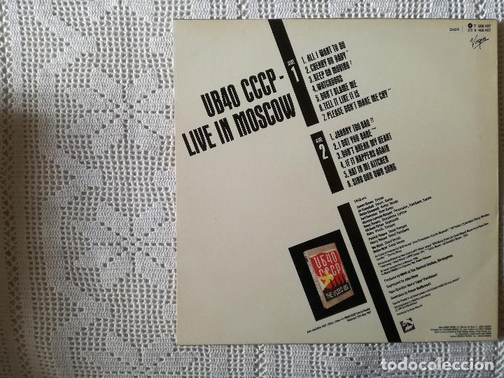 Discos de vinilo: UB 40, CCCP LIVE IN MOSCOW (VIRGIN) LP ESPAÑA - ENCARTE - UB40 - Foto 2 - 98767895