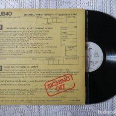 Discos de vinilo: UB 40, SIGNING OFF (MOVIEPLAY) LP PROMOCIONAL ESPAÑA - ENCARTE - UB40. Lote 98768047