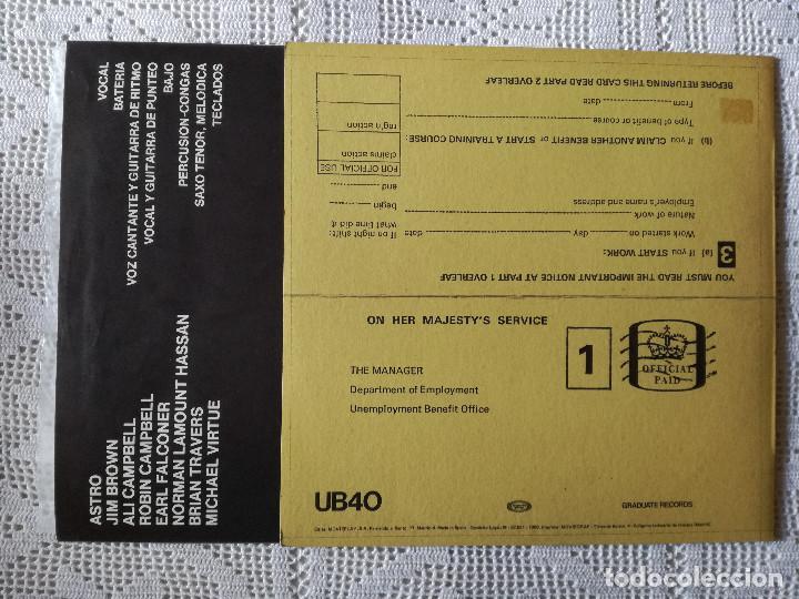 Discos de vinilo: UB 40, SIGNING OFF (MOVIEPLAY) LP PROMOCIONAL ESPAÑA - ENCARTE - UB40 - Foto 2 - 98768047