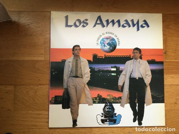 LOS AMAYA ?– LA VUELTA AL MUNDO EN RUMBA (Música - Discos - LP Vinilo - Grupos Españoles de los 70 y 80)
