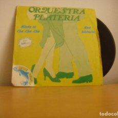 Discos de vinilo: SINGLE VINILO - ORQUESTA PLATERIA - 1981 - MIEDO AL CHA-CHA-CHA / UNA HISTORIA - ARIOLA – B-102.595. Lote 121124582