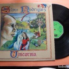 Discos de vinilo: SILVIO RODRIGUEZ UNICORNIO LP SPAIN 1982 PDELUXE. Lote 98807211