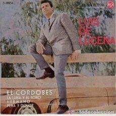 Discos de vinilo: LUIS LUCENA - EL CORDOBES - LA LUNA Y EL TORO - HERMANO - PENA Y DOLOR -EP. Lote 98808471