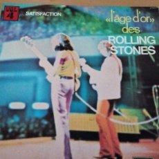 Discos de vinilo: THE ROLLING STONES SATISFACTION LP GATEFOLD CON LIBRO INTERIOR 1973. Lote 98809555
