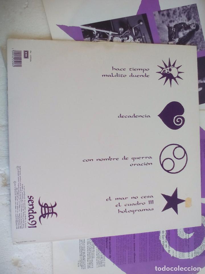Discos de vinilo: HEROES DEL SILENCIO SENDA 91. VINILO DOBLE. 2 MAXISINGLES EMI 1991, 45 rpm - Foto 3 - 98811287