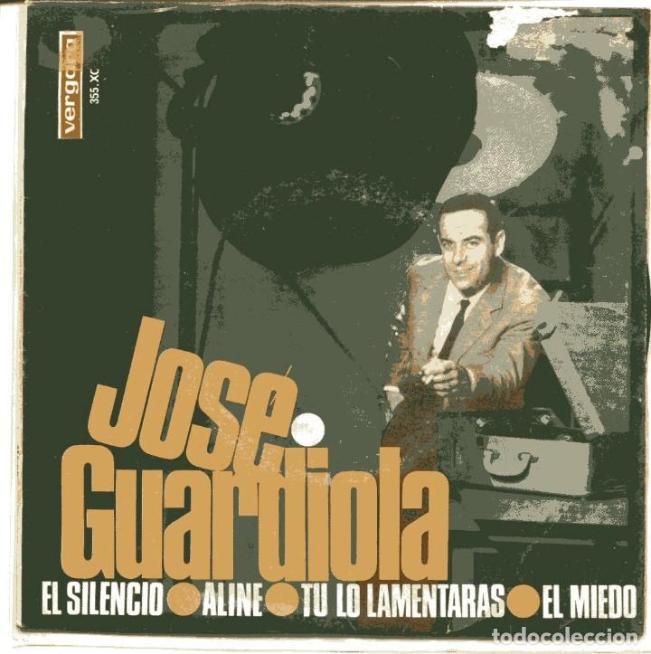 JOSE GUARDIOLA / EL SILENCIO + 3 (EP 1966) (Música - Discos de Vinilo - EPs - Solistas Españoles de los 50 y 60)