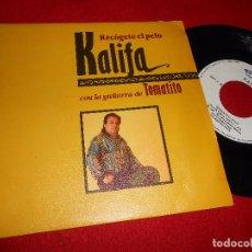 Discos de vinilo: KALIFA RECOGETE EL PELO/EMPEZAR DE NUEVO 7'' 1991 NUEVOS MEDIOS PROMO TOMATITO. Lote 98963591