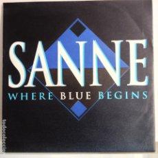 Discos de vinilo: SANNE - WHERE BLUE BEGINS / RUNNING FREE - NUEVO . Lote 98861243