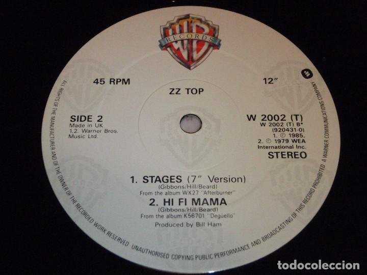 Discos de vinilo: ZZ TOP ( STAGES 2 VERSIONES - HI FI MAMA ) ENGLAND 1979/1985 MAXI45 WARNER BROS RECORDS - Foto 5 - 98864099