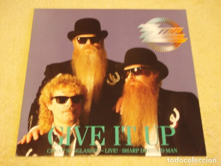 ZZ TOP ( GIVE IT UP - CHEAP SUNGLASSES (LIVE) - SHARP DRESSED MAN ) 1983-1990-GERMANY MAXI45 (Música - Discos de Vinilo - Maxi Singles - Pop - Rock - New Wave Internacional de los 80)