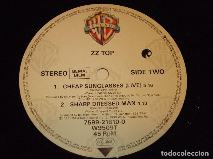 Discos de vinilo: ZZ TOP ( GIVE IT UP - CHEAP SUNGLASSES (LIVE) - SHARP DRESSED MAN ) 1983-1990-GERMANY MAXI45 - Foto 5 - 98867015